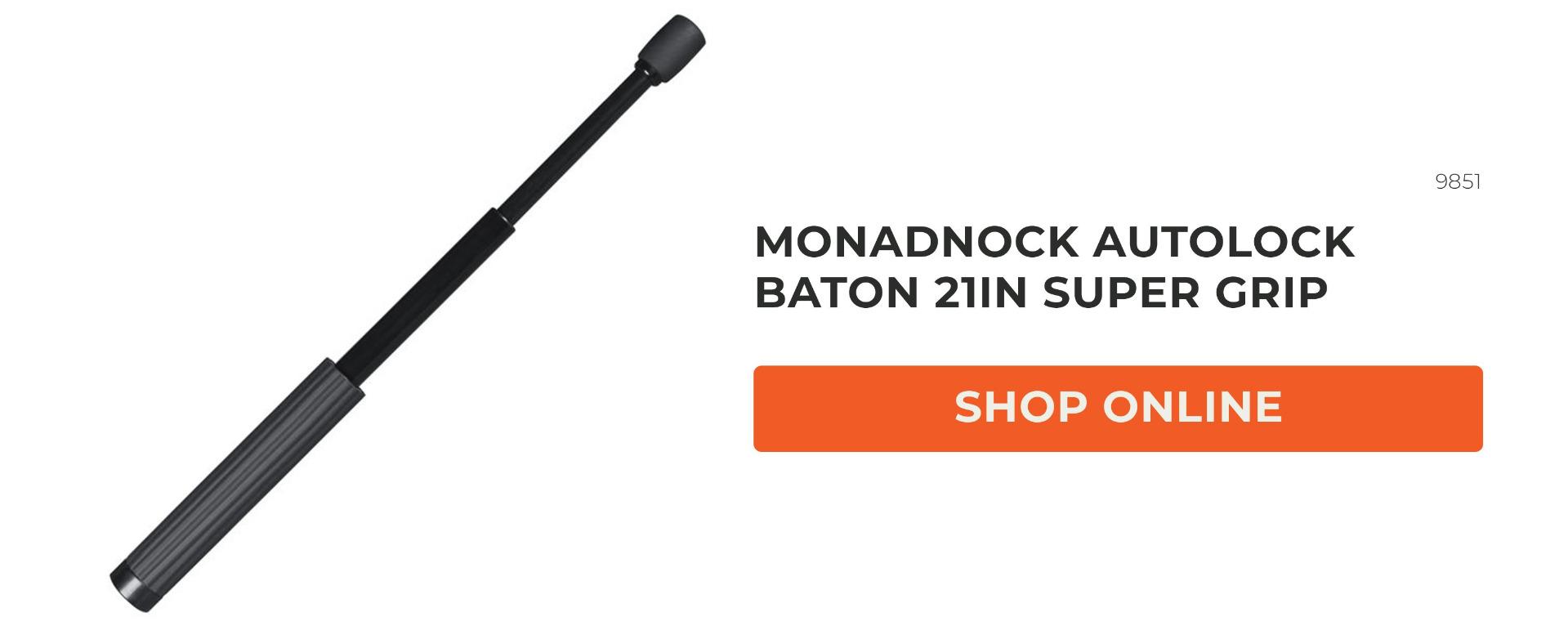 SAFARI OUTDOOR MONADNOCK AUTOLOCK BATON 21IN SUPER GRIP